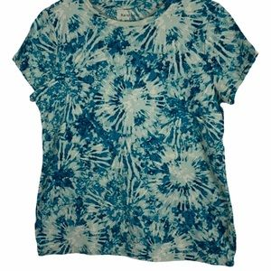 Relativity teal tie dye t-shirt tee size large